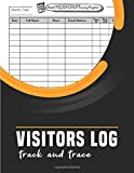 Visitors Log Track and Trace: Over 2880 Visitor Entries.track and Trace Book,visitors Book Sign in and out for Business, Offices,smaller Company, Hotels,guest House, B&b, Guest Houses,school, Meetings, Reception Desk