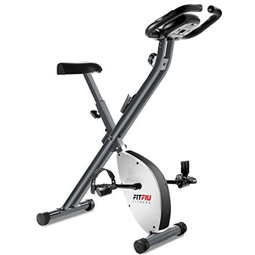 FITFIU Fitness Best 200 Bicicleta Estática Spinning Plegable sin resplado, con Freno magnético, Pulsómetro y Disco de inercia de 8 kg Regulable, Entrenamiento Cardio Fitness, Unisex Adulto, Gris