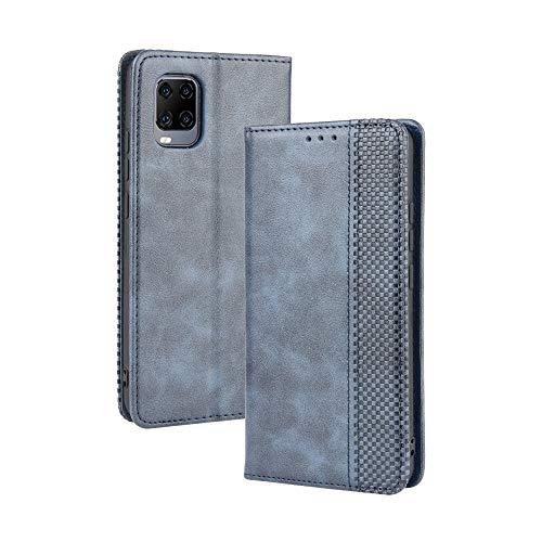 Dedux Flip Hülle kompatibel mit ZTE Axon 11 5G, Retro Leder Brieftasche Abdeckung Magnetverschluss Folio Ständer Kartensteckplätze Handyhülle, Blau