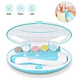 Baby Nail Trimmer, Upgraded Safe Electric Baby Nail Clipper, Baby Nail File with LED Light for Newborn Toddler & Kids Toes and Fingernails - Care, Polish & Trim