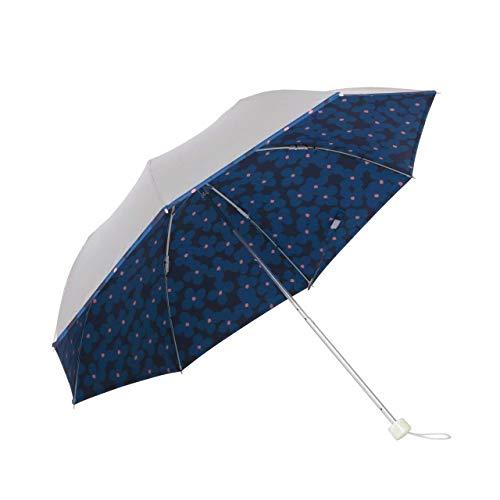 日傘 軽量 折り畳み 晴雨兼用 UPF50+ UVカット率/遮光率99%以上 遮熱 <ひんやり傘>【LIEBEN-0577】 シルバー (ブルーポピー)