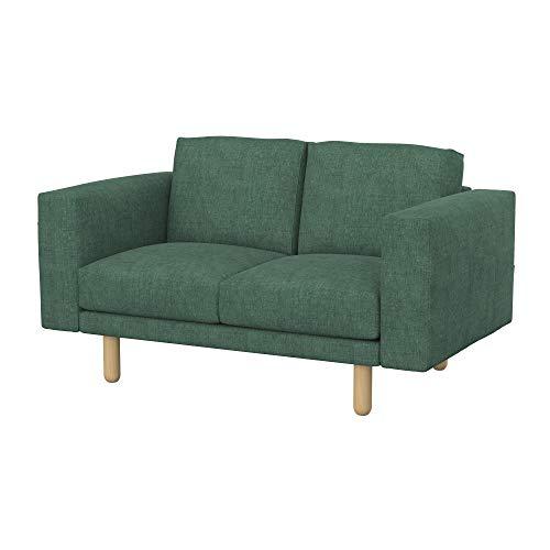 Soferia Bezug fur IKEA NORSBORG 2er-Sofa, Stoff Softi Green