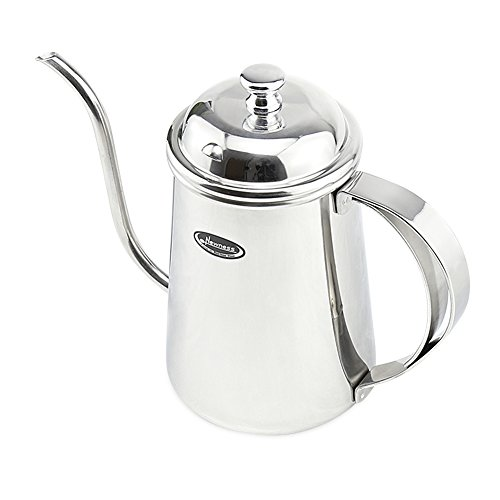 Long Narrow Spout Coffee Pot Lid - Newness 304 Stainless Steel Hanging Ear Hand Blunt Pour Over Drip Pot Coffee Maker, Hanging Ear Coffee Bag Lover, 2.5 Cup (20 Ounces, 600 Milliliter)