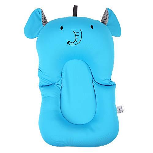 Cojín de baño para bebés Cojín de asiento suave para niños recién nacidos Cojín de aire flotante para bañera Almohada flotante para protección de la columna infantil (Blue)