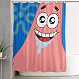 LIUYAN Shower Curtain with Hook - Patrick Drooling Waterproof Polyester Fabric Bathroom Decor 60 X 72 Inches