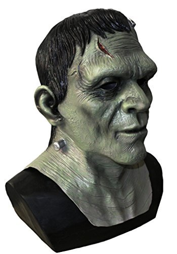 Coopers Fancy Dress Deluxe Frankenstein Monster Mask Latex Boris Karloff Halloween Horror Fancy Mask