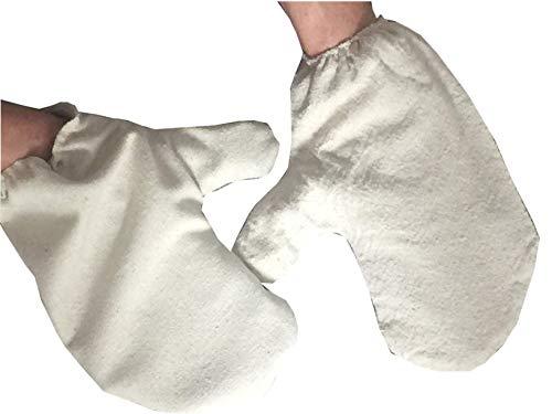 Massage Handschuh Garshan - Seidenhandschuhe | 1 Paar für Wellness & Ayurveda