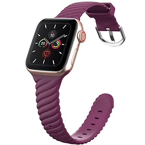 DGDD Relojes con Correa 38/40mm Mujer - Reloj Inteligente Hombre, Correa de Repuesto Reloj, Correa de Acero Inoxidable, Compatible con Apple Watch 123456 se Universal,Purple 38/40mm