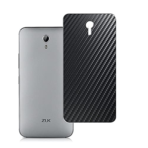 Vaxson 2 Unidades Protector de pantalla Posterior, compatible con Lenovo Zuk Z1, Película Protectora Espalda Skin Cover - Fibra de Carbono Negro
