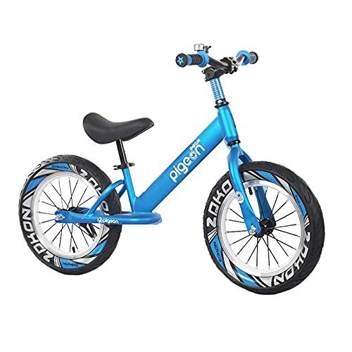 Bicicleta Equilibrio Bicicleta de Equilibrio de Aluminio de 16 Pulgadas para Niñas Grandes, para La Altura del Niño 118-150cm, Bicicleta Depor Ligera Azul Sin Pedales para Caminar (Size : 14in)
