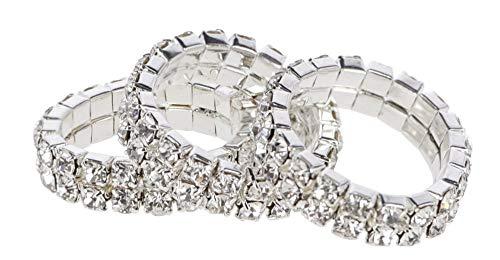 Kerbl 3211635 Kristallmähnenbänder Weiß, Zweireihig, 10 Stück