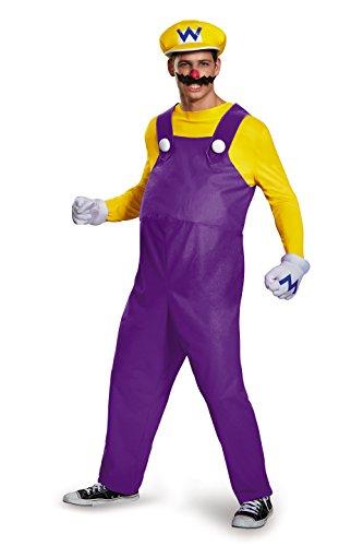 Disguise Men's Plus Size Super Mario Wario Deluxe Costume, Yellow, XX-Large