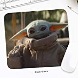 Cute Alien-Baby Gaming Mouse Pad,Rubber Base Mousepad with Stitched Edges,Cool Non-Slip Yo-da Baby Mouse Mat for Desk, Computer, Laptop, Home, Office, Working