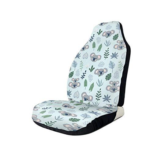 YAGEAD Fundas de asiento de coche Cute Koalas Funda de asiento de cubo elástica Universal Fit Most Car/Truck/Suv