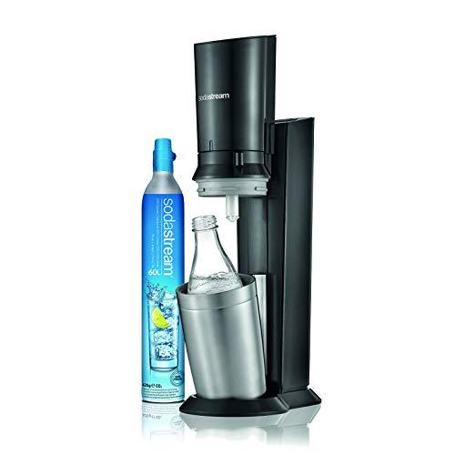SodaStream Wassersprudler Crystal 1.0 (mit 1 x CO2-Zylinder 60L und 1 x 0,6L Glaskaraffe) Modell 2016