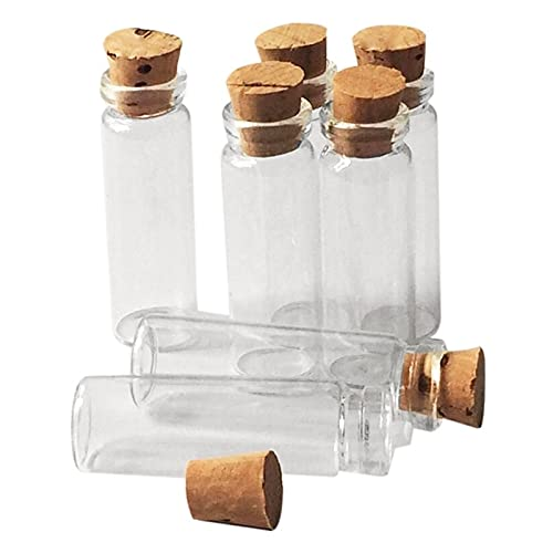 PPuujia Botella de corcho transparente de vidrio mini vacío (color transparente, tamaño: L)