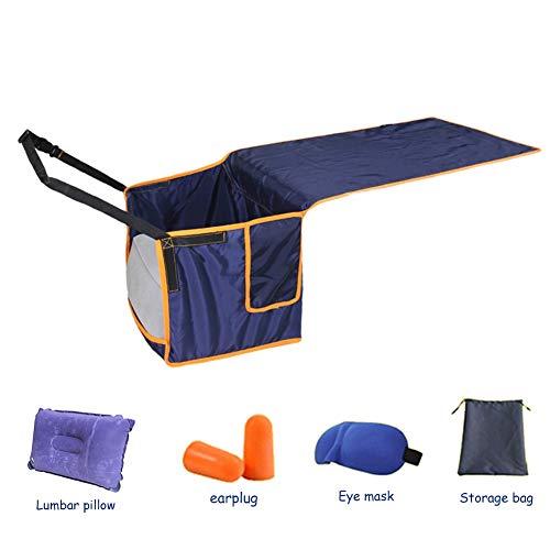 QMJHL Aircraft foot pedal hammocks, Portable inflatable foot pads, Easy and comfortable pedal hammocks, Seat anti-dirty pads, Portable travel sleep comfort pedal hammocks.