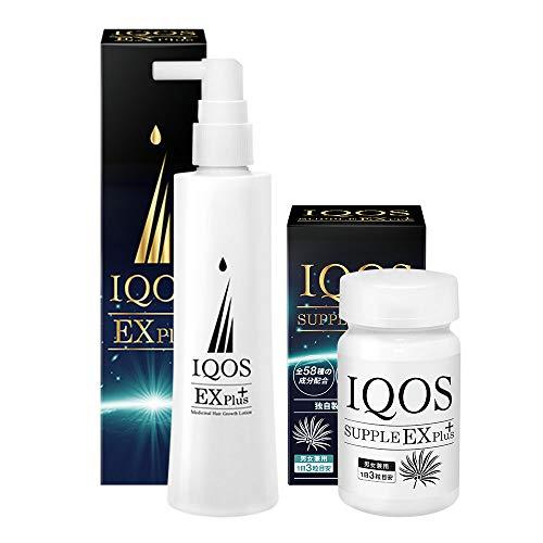 イクオス EXプラス 医薬部外品 育毛剤 120ml サプリメント 栄養機能食品 90粒 約1カ月間分 2点セット