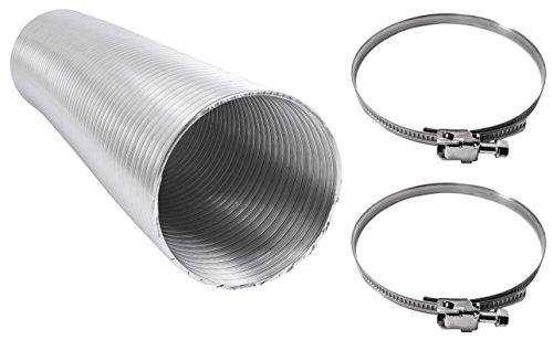 Intelmann Alu Flexrohr 50mm, Länge 5m + 2 Edelstahl Schlauchschellen