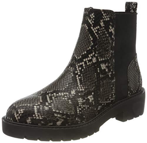 Steve Madden Damen Gliding Bootie Chelsea Boots, Mehrfarbig (Grey Snake 004), 38 EU