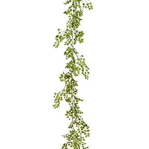 6′ Silk Maidenhair Fern Garland -Green (Pack of 6)