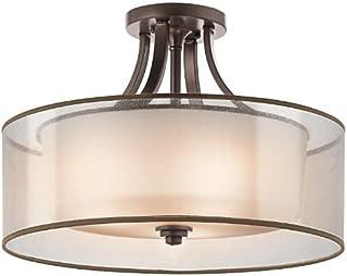 Kichler 42387MIZ Lacey Semi-Flush 4-Light, Mission Bronze