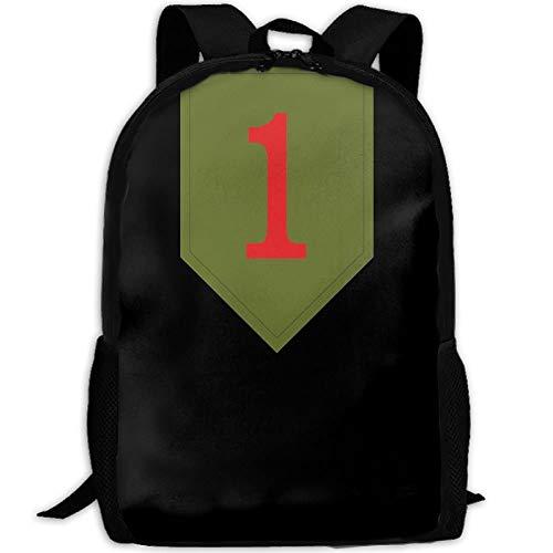 Laptop Backpacks,Kids School Book Bags,Casual Shoulder Bag Bookbag,Gym Bags,Girls Boys Printed Daypack,Satchel Backpack,1St Infantry Division Big Red One Satchel Backpack