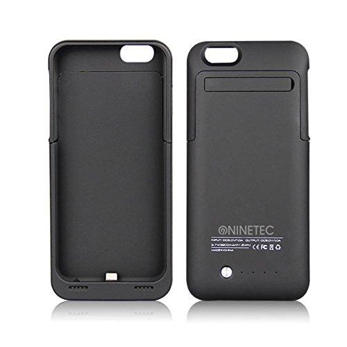 NINETEC 3500mAh Power Case + Schutzhülle 2in1 mit Akkufunktion Power Bank Zusatzakku für iPhone 6 Black