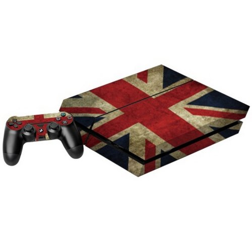 Photo of Mecaweb UK Flag Skull Skin Sticker For PS4 Playstation 4 Console + Controller