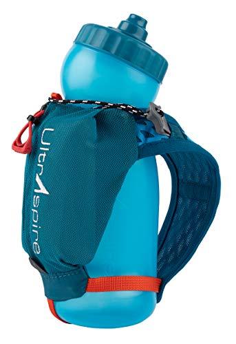 Ultraspire Iso Pocket 3.0 Botella de agua de mano, 20oz, Azul esmeralda.