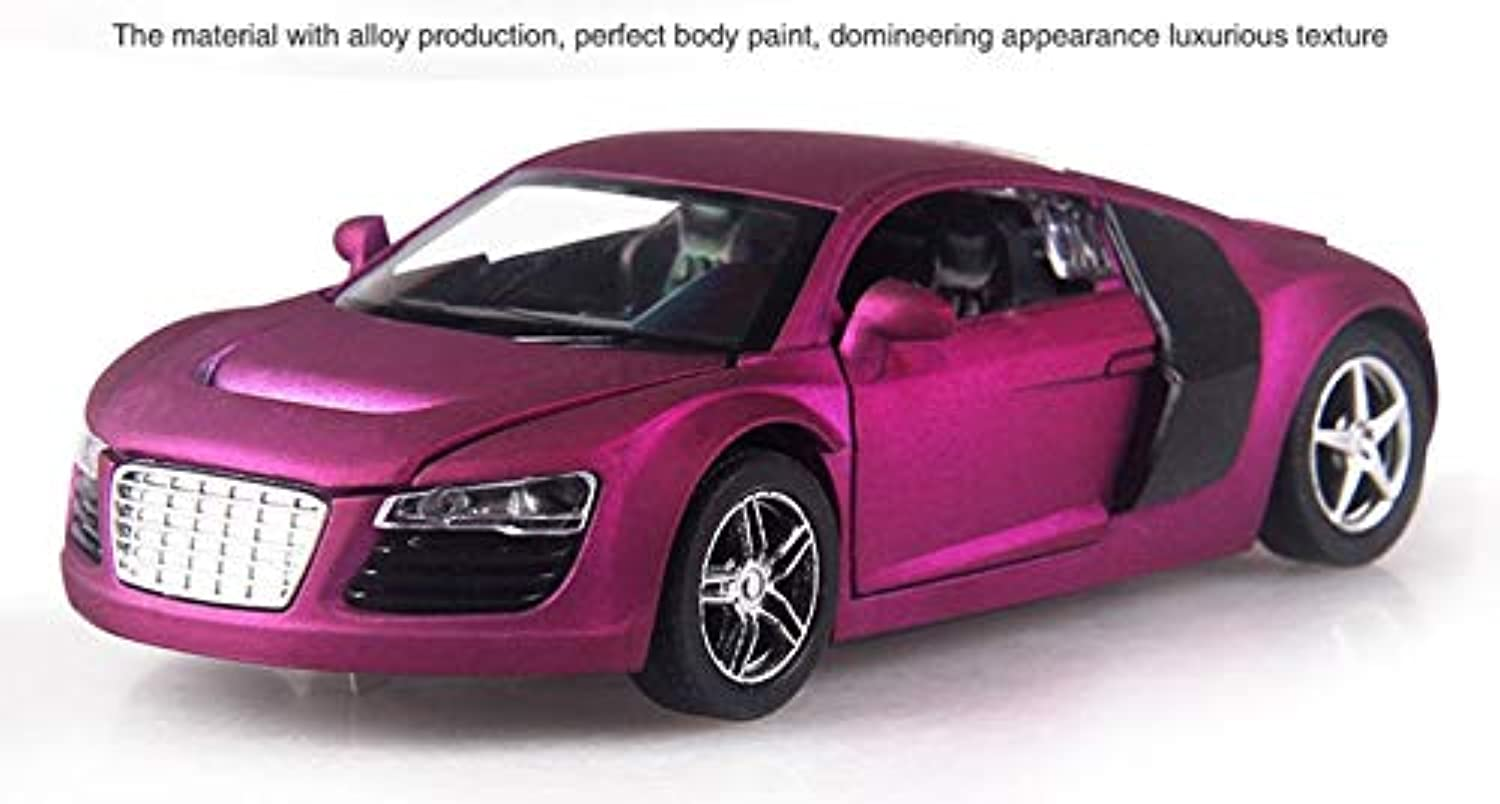 Generic 4 color 1 32 Scale 1416CM Alloy Cars S320 W140 car Pull Back Diecast Model Toy with Sound Light Collection Gift Toy Boys Kids purple R8