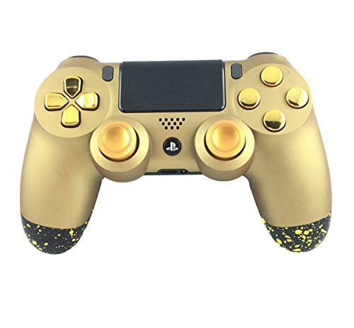Manette PS4 custom Soft Touch Red & Gold - Draw my Pad manette Playstation 4 personnalisée manette PS4 pro