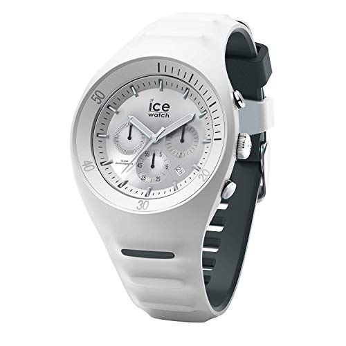 ICE-WATCH - P. Leclercq White - Weiße Herrenuhr mit Silikonarmband - Chrono - 014943 (Large)