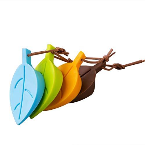 Vosarea 4 Stücke Silikon Türstopper Türkeil Blätter Form Keil Fensterstopper Türanschlag Protektoren für Baby Kinder Kleinkinder Haustier