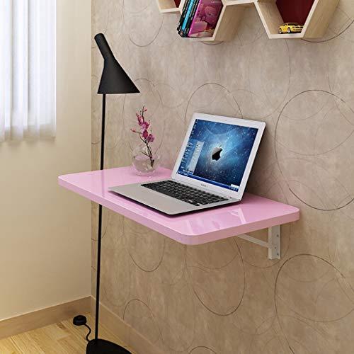 CDXZRZYH Escritorio Plegable de la computadora, Estante de la tablilla montado en la Pared Rosa/Blanco Tamaño del Escritorio de la computadora portátil Opcional (Color : Pink, Size : 60 * 40cm)