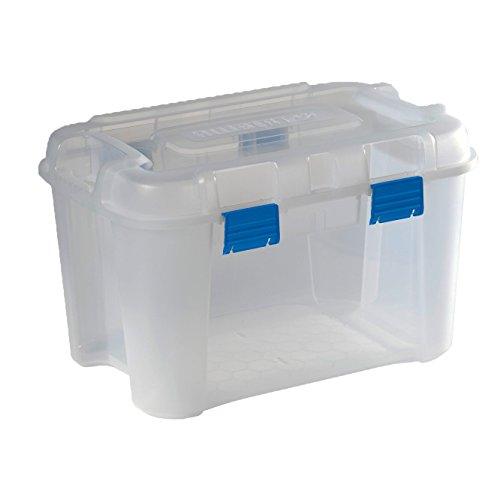 KETER | Malle Totem 60L, Transparent, 59 x 39,5 x 36 cm, Plastique
