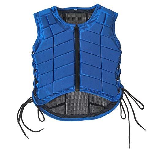 JTIH ®Vest voor kinderen, vest voor paardrijvest, beschermende uitrusting, absorptie van Urti Gilet Eva afkleding voor meisjes en jongens (S,3)