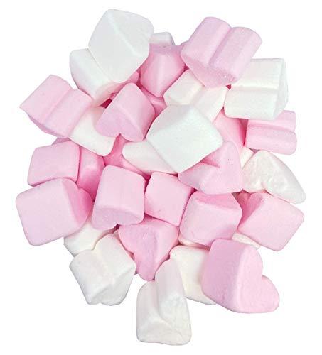 Schaumzucker-Herzen Marshmallow-Herzen - Süßigkeit für Hochzeit Valentinstag Muttertag Party - pink und weiß - fettfrei glutenfrei