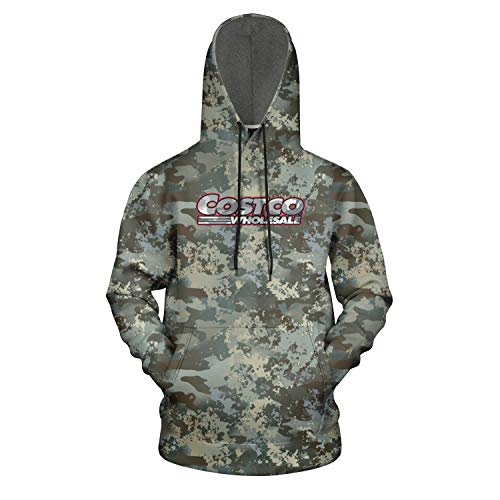 Mens Sweater Camouflage Comfort Active Hoodie with Pocket 3D Printing