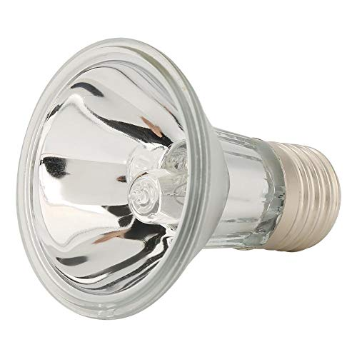 Zerodis UVA + UVB 220V Haustier Reptil Halogenstrahler Vollspektrum Sonnen Sich Heizlampe Licht mit E27 Fassung für Eidechsenschildkröte Hühneramphibie Geflügel(50W)