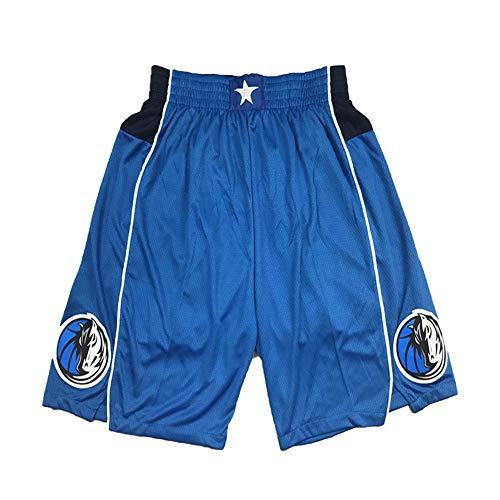 FGRGH Pantalones Cortos de Baloncesto de Dāllàs para Fiesta, 77# Dōcìcc Men's Athletic Basketball Shorts Malla Ropa de Secado rápido de la Malla Blue-M