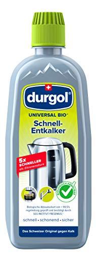 durgol universal bio Schnell-Entkalker – Ökologischer Kalkentferner für alle Haushaltsgeräte – Deutsche Version – 1 x 500ml