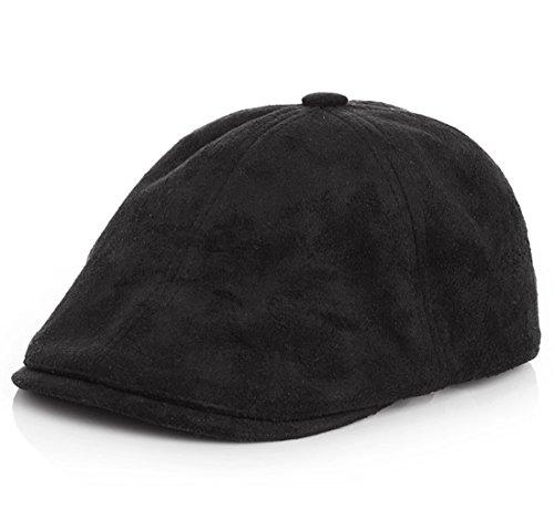Kuyou Gatsby Mütze Kinder Baskenmütze Baby Kids Kapppe Hüte, Black, Einheitsgröße