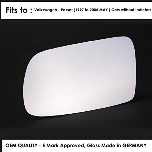 Driver Side Silver Aspheric Wing Door Mirror Glass Including Base Plate Rh The Wing Mirror Company GP955-NX Heated