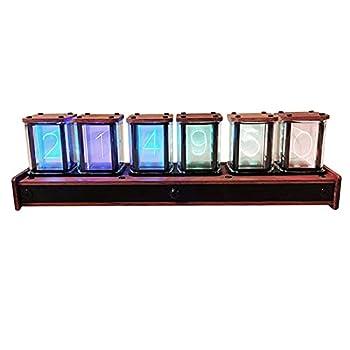 DIY RGB LED Nixie Tube Clock PIR Motion Control 12/24 Hour Mode Switching USB Powered Visual Effects Gift Idea