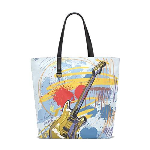 XiangHeFu Bolsos de mujer Resumen Guitarra Música Poliéster Bolso de hombro