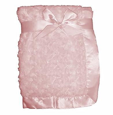 Gato de peluche de remolino de lujo con borde de raso/cuna manta para cochecito de bebé-Adecuado para bebé niña-Lovely Cute regalo....