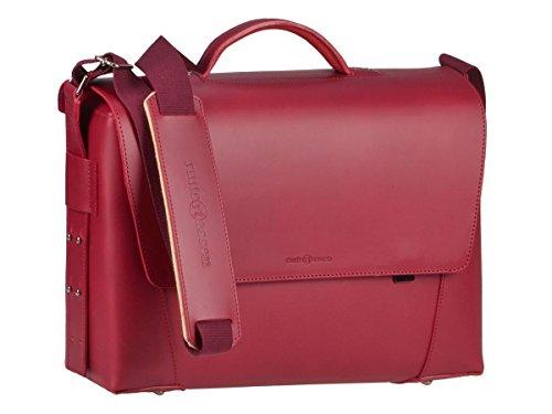 Ruitertassen Lehrertasche Aktentasche 40cm Leder 3-Fächer Schultasche rot Damen