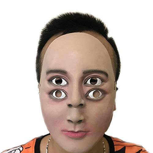 Ruikey Halloween Horror Máscara de Cuatro Ojos Vestido de Fiesta máscara para Completa Accesorios de sombrerería para Adultos Cosplay