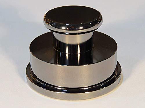 Abrazadera estabilizadora para Reproductor de Discos giratorios, Acabado Cromado de latón Macizo, Grado audiófilo